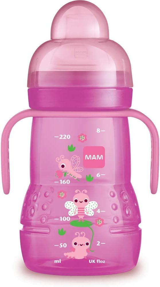 Coloris Al/éatoire MAM Babyartikel 62838222 Trainer Plus Biberon dentra/înement Rose 220/ml