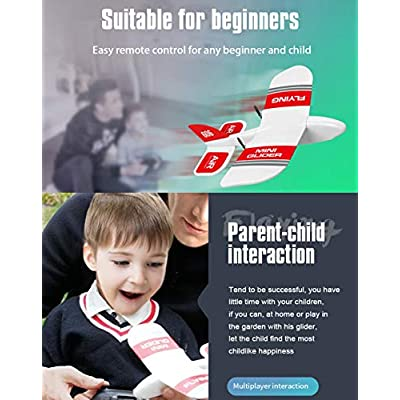 KF606 Mini Glider 2.4Ghz RC Airplane Flying Aircraft Toy Built-in Gyro 3 Replaceable Batteries 45 Minutes Indoor Outdoor Flight Time EPP Foam Plane Gifts Child's Paper Plane (KF606 Glider + 3 Battery): Toys & Games
