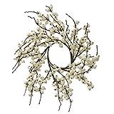 Vickerman Indoor/Outdoor Berry Wreath, 18-Inch, White