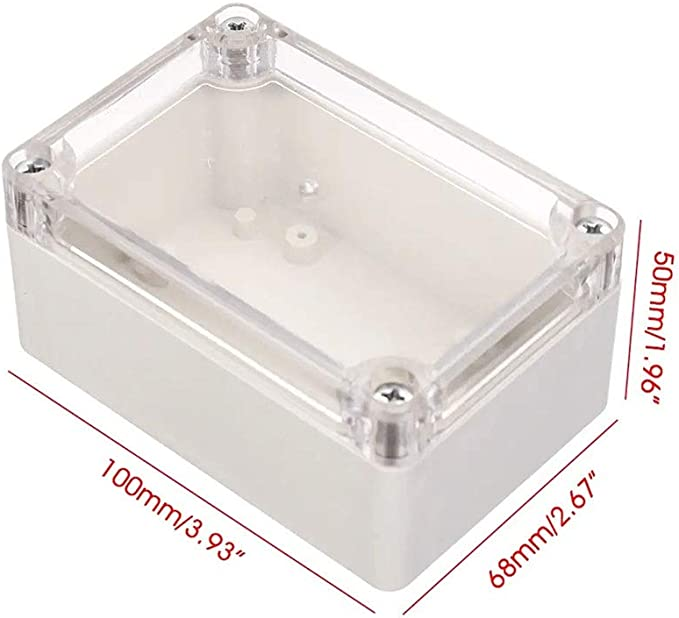 WANGZHI - Caja de plástico transparente impermeable para proyectos electrónicos (100 x 68 x 50 mm): Amazon.es: Electrónica