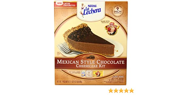 Amazon.com : La Lechera Mexican Style Cheesecake Kit, Chocolate ...