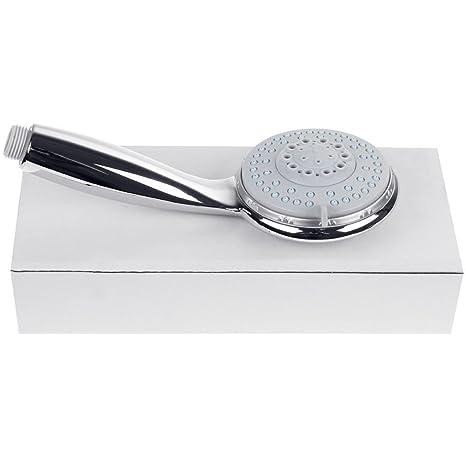 CherryKelly Cabezal de ducha manual 5 Gear Multi-Functional Boost - Acabado cromado - Plata: Amazon.es: Bricolaje y herramientas