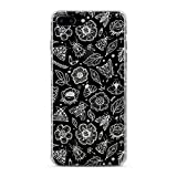 Lex Altern TPU Case for iPhone Apple Xs Max Xr 10 X 8+ 7 6s 6 SE 5s 5 Cover Slim Fit Flowers Pattern Floral Abstract Flexible Print Lightweight Girl Insect Design Wild Gift Smooth Soft Clear White