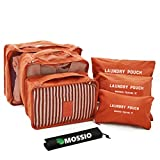 Travel Accessories,Mossio Luggage Organizer 7 Piece Compression Pouch Orange