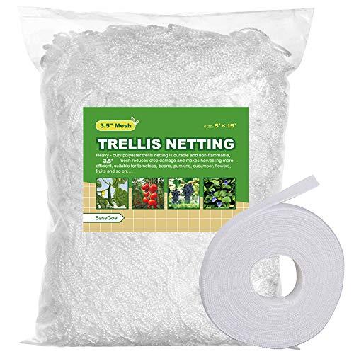BaseGoal All-Weather Trellis Netting Mesh Plant