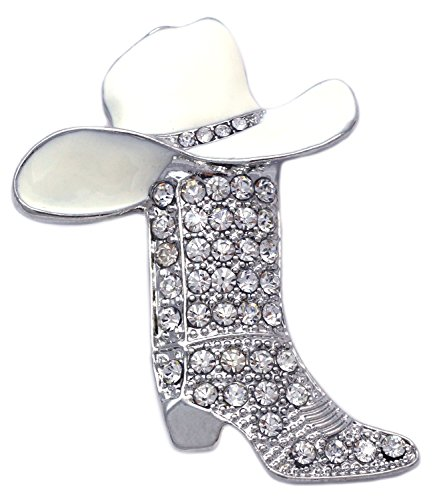 (Western Cowboy Cowgirl Hat Boot Brooch Pin Women Fashion Jewelry)