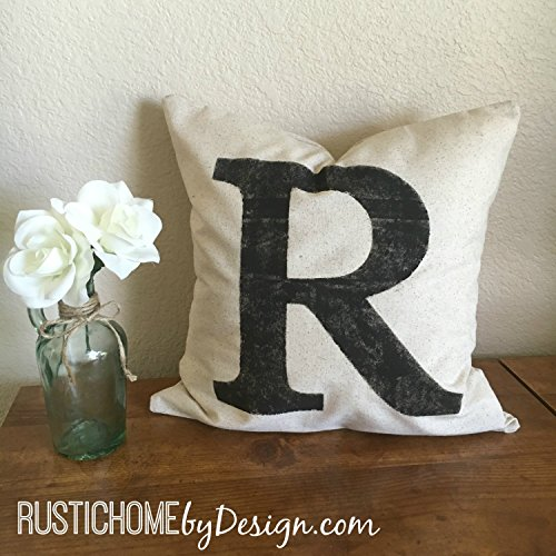 Initial Pillow Cover | Rustic Pillow Cover | Farmhouse Pillow | Multiple Sizes Available | Custom Pillow Cover | Made To Order