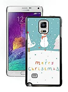 Galaxy note 4 case, Samsung Galaxy note 4 cases,Cute Snowman and Christmas trees Samsung Galaxy note 4 Case Black Cover