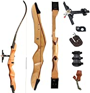 """SinoArt 68"""" Takedown Recurve Bow Adult Archery Competition Athletic Bow Weights 18 20 22 24 26 28 30 32 3"""