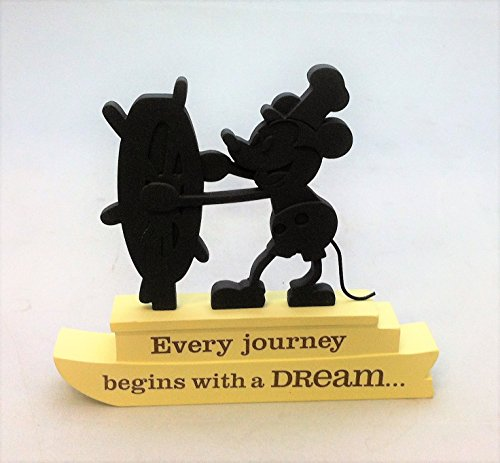 Mickey Box Music Mouse - Hallmark 1DYG9142 - Steamboat Willie Every Journey Silhouette