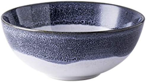 Lhl Tazón de Dos Colores, cerámica Retro Tazón de Degradado Redondo Ensalada de Frutas Helado Sopa de Sopa Tazón de Leche de Avena extraído a Mano 9 Pulgadas Tazón (Color : 16 *