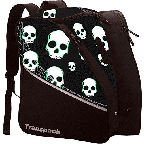 (Transpack Edge Junior Kids Ski/Snowboard Boot Bag - Black/Green)