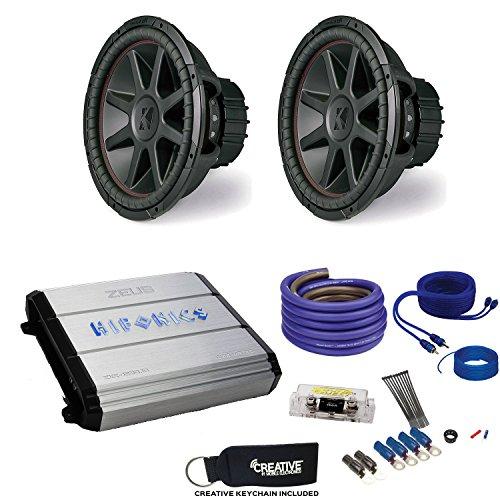 "12"" CompVR Subwoofers & Hifonics ZXX-1200.1D Zeus 1200 Watt Amplifier & Wiring Kit ()"