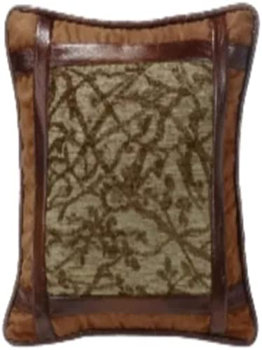 HiEnd Accents LG1860P1 Highland Lodge Framed Tree Pillow, 18×18, 18 x 18