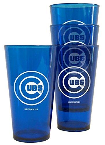 Chicago Cubs Plastic Pint Glass Set