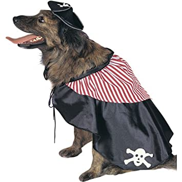pirate dog pet costume size large