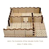 D&D Dungeon Brick Walls (Set of 16) Wood Laser