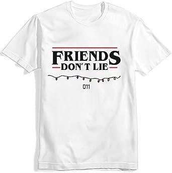 Camiseta Stranger Things Niña, Camiseta Stranger Things Mujer Friends Dont Lie Unisex Mujer Hombre Impresión Manga T-Shirt Abecedario Camisa de Verano Regalo Camisetas y Tops: Amazon.es: Ropa y accesorios