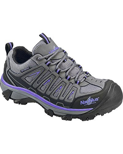 Nautilus Shoe Composite Work Toe - Nautilus Safety Footwear Women's 2258 Work Shoe, Grey, 10 W US