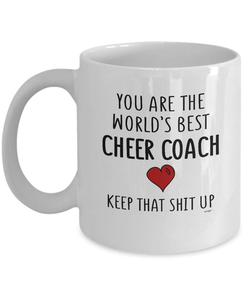 Amazoncom Cheer Coach Mug Funny Coffee Cup Gift Ideas