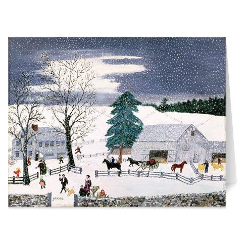Christmas Cards Holiday Cards Merry Christmas Cards Boxed Christmas Cards Grandma Moses Art 20 w Envelopes (Grandma Moses Christmas Cards)