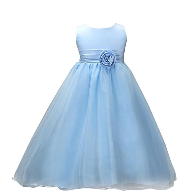 ropa de bebé, Honestyi Vestido Elegante de Princesa para Niña Traje de Ceremonia Vestido Largo