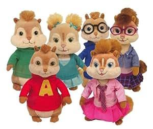 Ty Beanie Babies Alvin y las ardillas - Peluches (6 unidades)