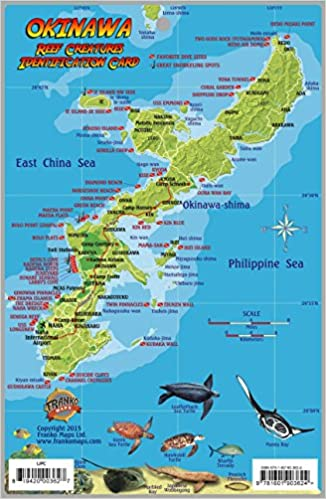 Okinawa japan dive map reef creatures guide franko maps laminated okinawa japan dive map reef creatures guide franko maps laminated fish card franko maps ltd 9781601903624 amazon books gumiabroncs Images