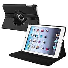 INSTEN 360-Degree Swivel Leather Case for Apple iPad mini, Black (PAPPIPDMLC19)
