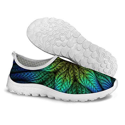 Pattern Walking Casual Stylish FOR Running Womens 2 Mesh U Floral Green DESIGNS Shoes Comfortable fqEaX
