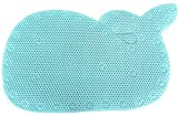 BBCare Whale Shaped Baby Non-Slip Bathtub Mat with Strong Suction Cups-Blue