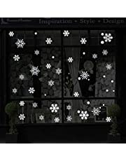 Christmas Decorations Snowflake Window Clings, White Snowflakes Decorations, Winter Snowflake Decals Window Cling Stickers, Snow Ornaments Christmas Decor Gift for Kids