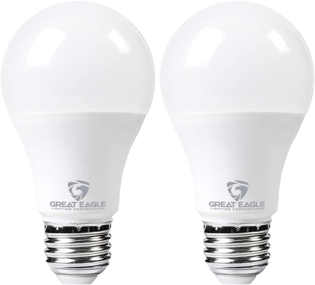 Great Eagle LED 23W Light Bulb (Replaces 150W – 200W) A21 Size with 2640 Lumens, Non-Dimmable, 5000K Daylight, UL Listed (2-Pack)