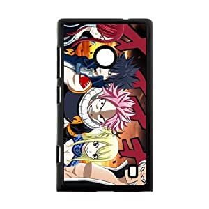Custom Japanese manga series Fairy Tail Lucy Heartfilia Nokia Lumia 520 Hard Plastic Black Case Cover Shell (HD image)