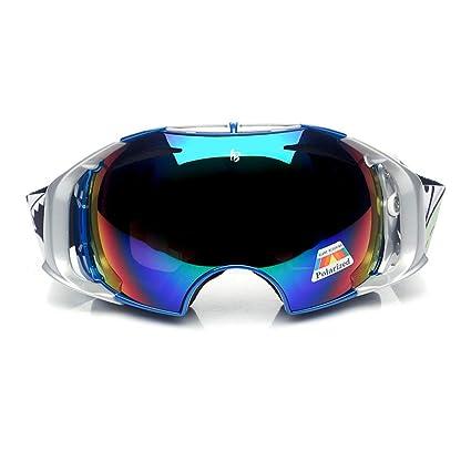 SX-CHENG Gafas Deportivas- Gafas de esquí Gafas de esquí Doble antivaho Gafas de