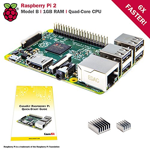 CanaKit Raspberry Pi 2 (1GB) with Premium Black Case and 2.5A Power Supply by CanaKit (Image #1)