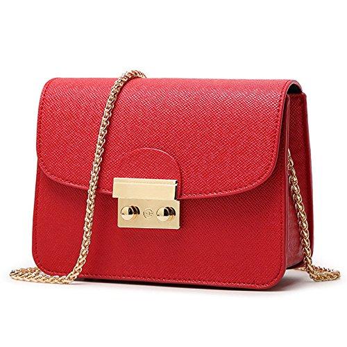 Womens Lock Hebilla Bolsas De Hombro Bolso Crossbody Mini Pequeña Bolsa De Mensajero Bolsa De Cadena De Oficina De Moda De Verano Red