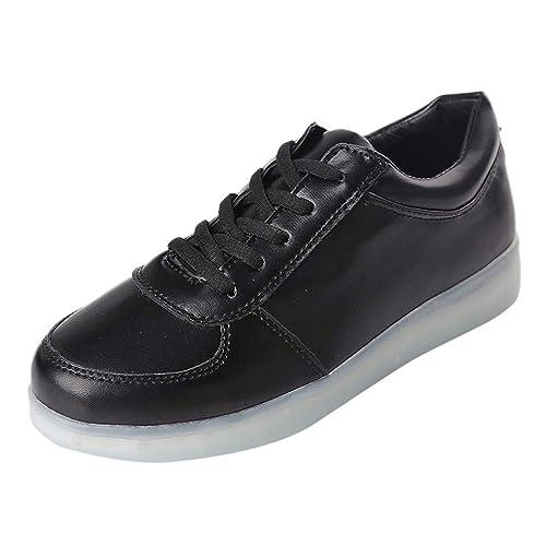 LHWY Zapatillas Mocasines de Deportes Pareja Modelos Zapatos Ligeros Zapatos Ocasionales con Suela Brillante Zapatillas con Cordones para Mujer: Amazon.es: ...
