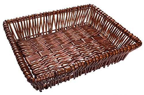 Willow Storage File Tray in Brown Finish - 15 x 12 x 3.5 Inches
