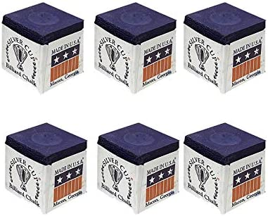 BOX of BLACK Genuine SILVER CUP High Quality Snooker or Pool Cue Tip Chalks 12 Pieces