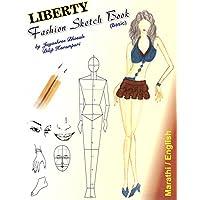 Liberty Fashion Sketch Book ( English & Marathi in single Book )