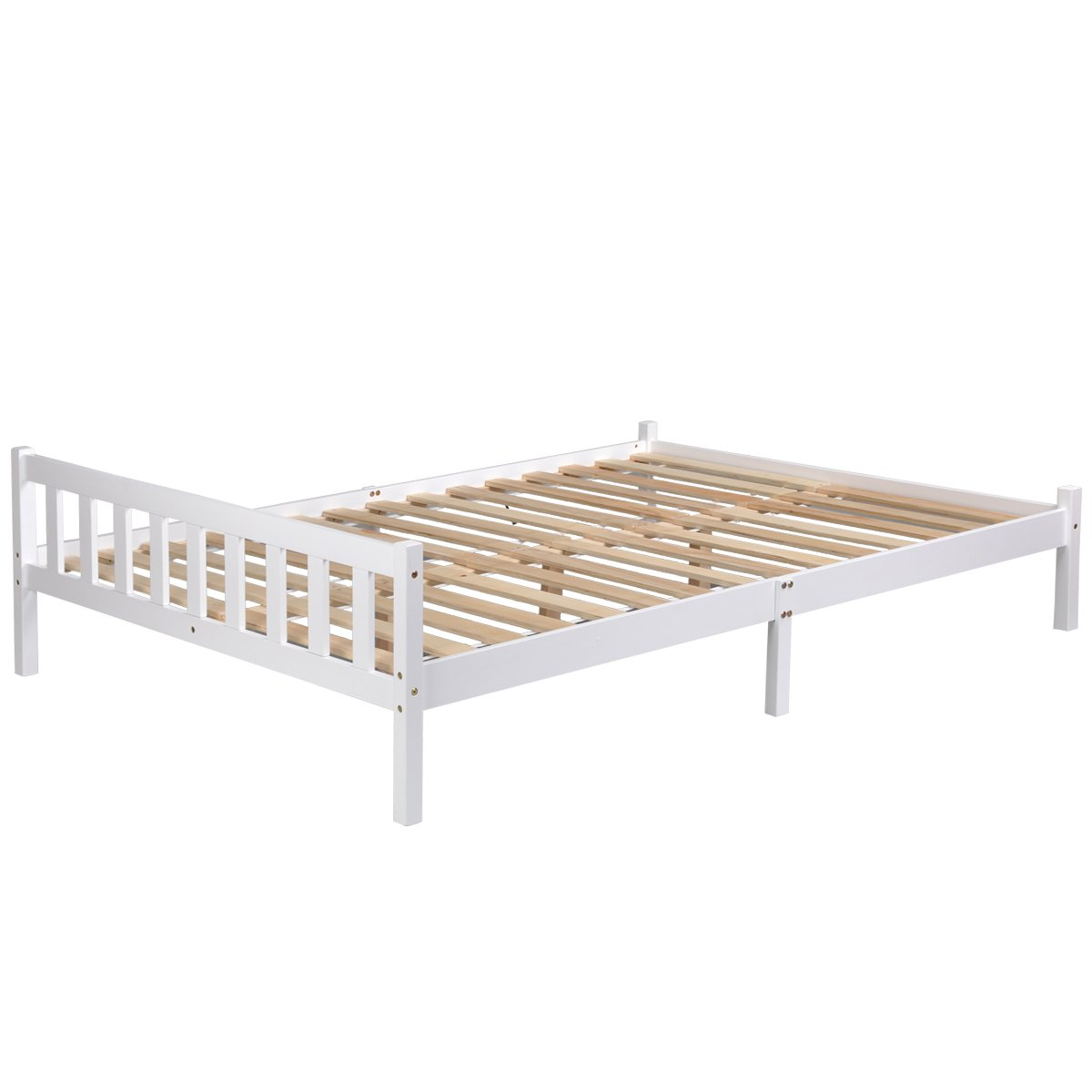 Innovareds natur robust massiv kiefernholz 4 ft6 queen bed side bed ...