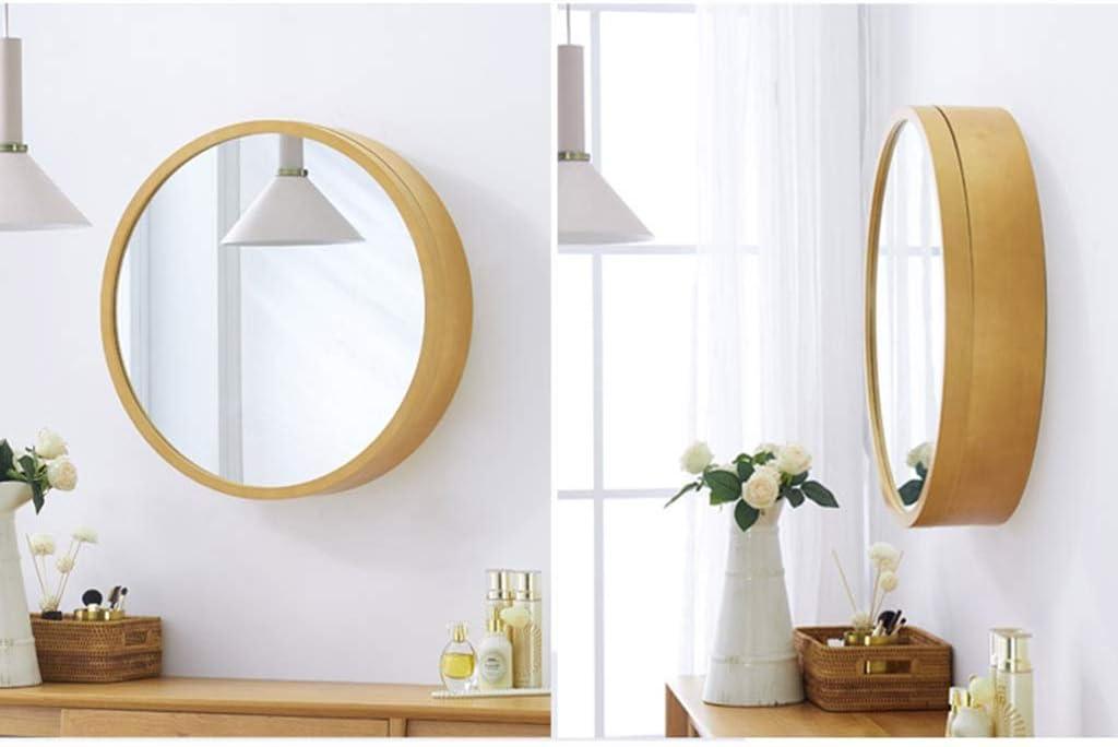 Color : Wood Color, Size : 50 * 50 * 13cm Xing Hua home Spiegel Badezimmer Spiegelschrank Badezimmer Spiegel mit Regal Spiegelschrank Lagerung Schminkspiegel Wandbehang