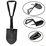 FineInno Folding Shovel Military Survival Spade Off Road Entrenching Tool with Pick,Saw D-handle for Camping, Garden, Backpacking