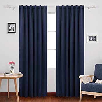 Amazon.com: Blackout, Room Darkening Curtains Window Panel Drapes ...