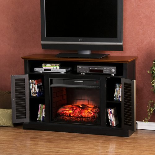Southern Enterprises Antebellum Infrared Electric Fireplace TV Stand