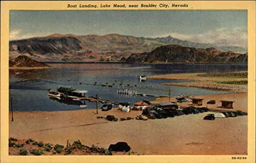 - Boat landing, Lake Mead, near Boulder City, Nevada Boulder City Original Vintage Postcard