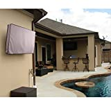 KHOMO GEAR Outdoor TV Cover- Titan Series - Universal Weatherproof Protector for 60'' - 65'' TV - Fits Most Mounts & Brackets