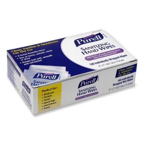 Purell дезинфекции рук салфетки индивидуально упакованные 100-CT. Коробка