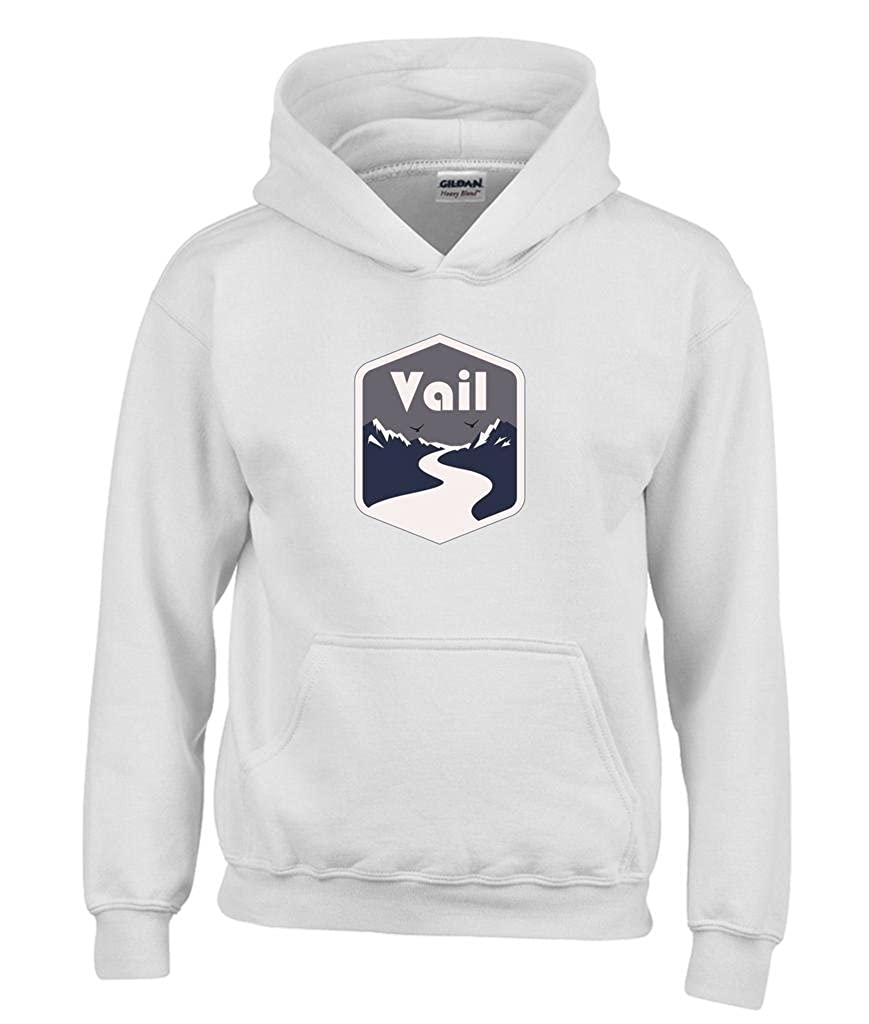 Kids Sweatshirt Colorado Mountain Road Youth Hoodie Vail
